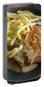 Schnitzel With Two Sauces Portable Battery Charger