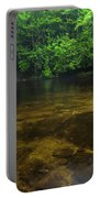 School House Falls Panorama Portable Battery Charger