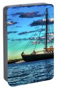 Schooner Adventure At The Paint Factory Portable Battery Charger