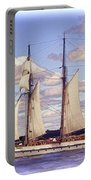 Schooner Mystic Under Sail Portable Battery Charger