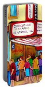 Schwartzs Hebrew Deli Montreal Streetscene Portable Battery Charger