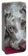 Scooby Weimaraner Pet Portrait Portable Battery Charger