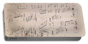 Score Sheet Of Moonlight Sonata Portable Battery Charger