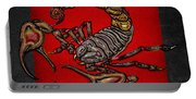 Scorpion On Red And Black  Portable Battery Charger