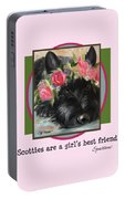 Scotties Are A Girl's Best Friend Portable Battery Charger