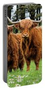 Scottish Highland Cows Portable Battery Charger