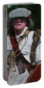 Scottish Soldier Of The Sealed Knot At The Ruthin Seige Re-enactment Portable Battery Charger