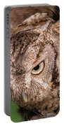 Screech Owl In Flight Portable Battery Charger