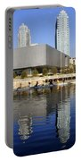 Sculling By The Tampa Bay Art Center Portable Battery Charger