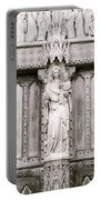 Sculpture Above North Entrance Of Westminster Abbey London Bw Portable Battery Charger