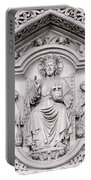 Sculpture Above North Entrance Of Westminster Abbey London Portable Battery Charger