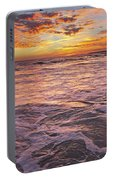 Sea At Sunset In Algarve Portable Battery Charger
