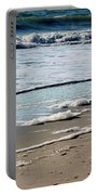 Sea Foam At The Shore Portable Battery Charger
