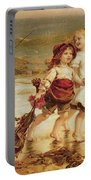 Sea Horses Portable Battery Charger by Frederick Morgan