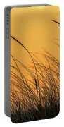 Sea Oats At Dusk Portable Battery Charger