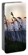 Sea Oats Silhouette Portable Battery Charger