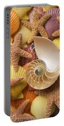 Sea Shells And Starfish Portable Battery Charger by Garry Gay