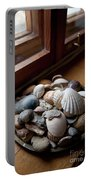 Sea Shells And Stones On Windowsill Portable Battery Charger