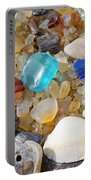 Sea Shells Art Prints Blue Seaglass Sea Glass Coastal Portable Battery Charger