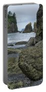 Sea Stacks And Boulders Washington State Portable Battery Charger