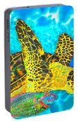 Sea Turtle And Parrotfish Portable Battery Charger