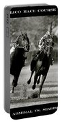 Seabiscuit Vs War Admiral, Match Of The Century, Pimlico, 1938 Portable Battery Charger