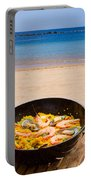 Seafood Paella In Cafe Portable Battery Charger