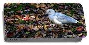 Seagull In The Fallen Leaves Portable Battery Charger