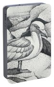 Seagull On Rocks Portable Battery Charger