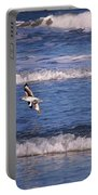 Seagulls Above The Seashore Portable Battery Charger