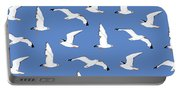 Seagulls Gathering At The Cricket Portable Battery Charger