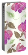 seamless   pattern of watercolor Fuchsia Flowers Portable Battery Charger