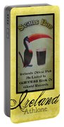 Seans Bar Guinness Pub Sign Athlone Ireland Portable Battery Charger