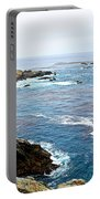 Seascape From Point Lobos State Reserve Near Monterey-california  Portable Battery Charger