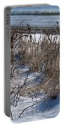 Seascape In Winter Portable Battery Charger