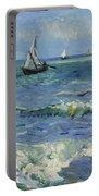 Seascape Near Les Saintes Maries De La Mer Arles June 1888 Vincent Van Gogh 1853  1890 Portable Battery Charger