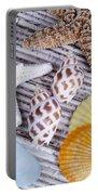 Seashells And Starfish Portable Battery Charger
