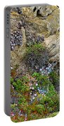 Seaside Cliff Garden In Point Lobos State Reserve Near Monterey-california  Portable Battery Charger