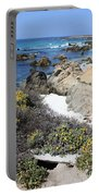 Seaside Flowers And Rocky Shore Portable Battery Charger