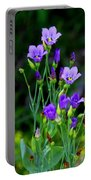 Seaside Gentian Wildflower  Portable Battery Charger