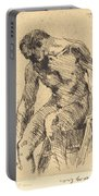 Seated Male Nude (sitzender M?nnlicher Akt) Portable Battery Charger