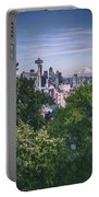 Seattle And Mt. Rainier Vertical Portable Battery Charger