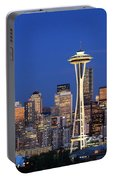 Seattle At Dusk Portable Battery Charger