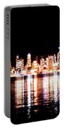 Seattle At Night - From Alki Beach Portable Battery Charger