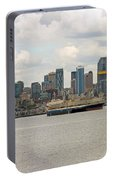 Seattle City Skyline Along Elliott Bay Portable Battery Charger