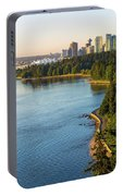 Seawall Along Stanley Park In Vancouver Bc Portable Battery Charger