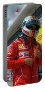 Sebastian Vettel Ferrari  Portable Battery Charger