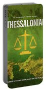 Second Thessalonians Books Of The Bible Series New Testament Minimal Poster Art Number 14 Portable Battery Charger
