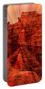 Sedona Sunset Energy - Abstract Art Portable Battery Charger by Carol Groenen