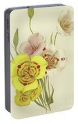 Sego Lily   Calochortus Portable Battery Charger
